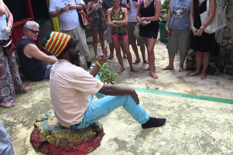 Rastafarian tour guide Captain Crazy at Nine Mile, Jamaica