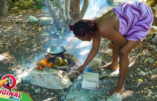 Another Day In Paradise Roasting Breadfruit And Stewing Chicken   Spearfishing Adventure