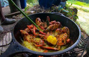 Spanish Bridge   Crayfish Catch Clean N' Cook