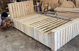 Woodworking Products Cheap – Build A Extremely Simple And Beautiful Single Bed From Wooden pallets